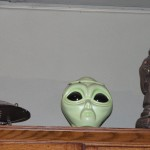 Flip meets the McMenamins' alien. All is copacetic.