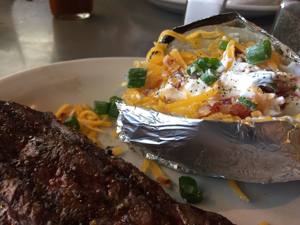 Good steaks, loaded potatoes. Nothing wrong with that in Ellensburg.