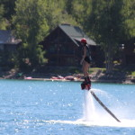 This is flyboarding. What a rush, I think?