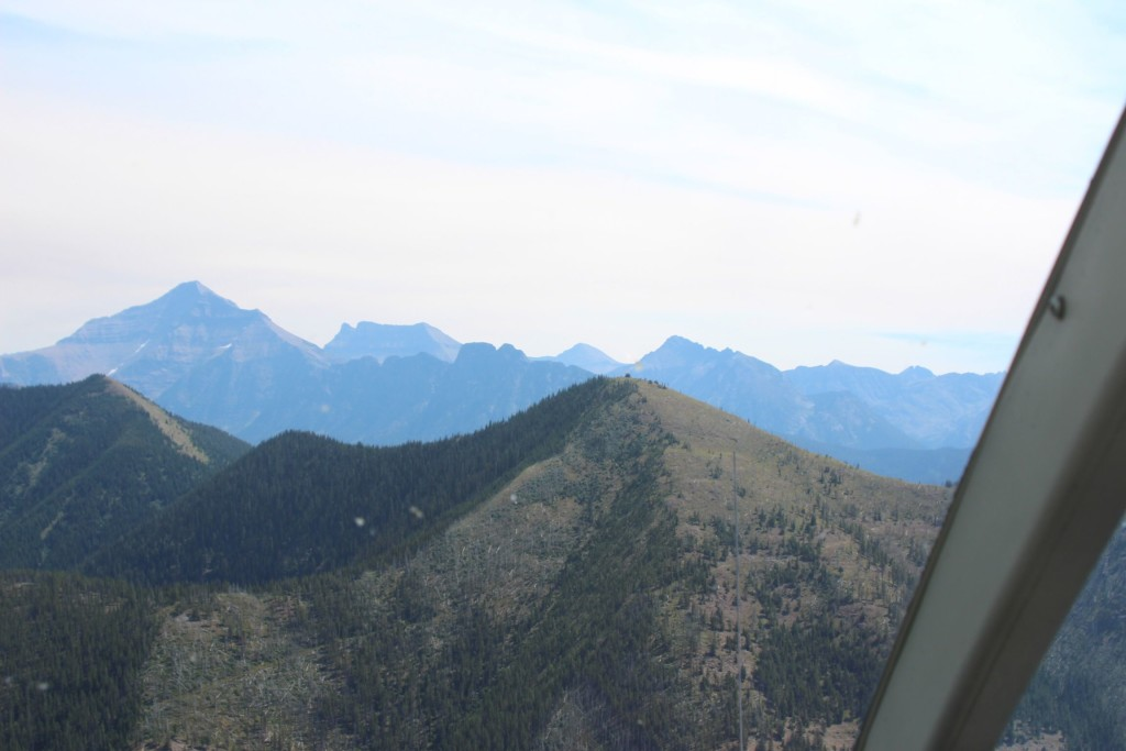 Glacier National Park by helicopter.