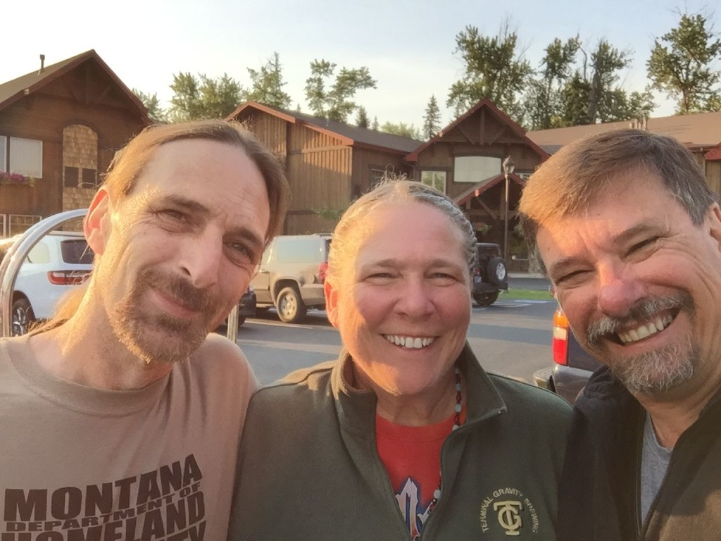 Heading out of Whitefish, Montana. It was awesome seeing family again after 10 years. Thanks for seeing us off, Shawn.