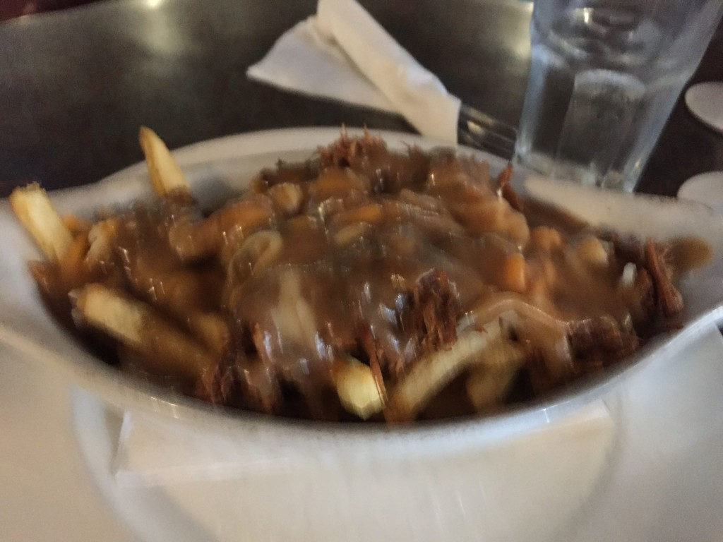 Poutine at Jimmy's Pub and Grill in Creston, B.C. This was the pulled pork suggested by sister Kim. It was awesome. Stop 1 on the poutine trail.